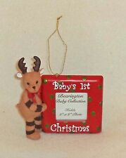 Christmas Bearington Collection Baby's First Christmas Picture Frame Ornament