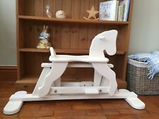 Childrens Rocking Horse Wooden Shabby Chic Annie Sloan Distressed Toy Display
