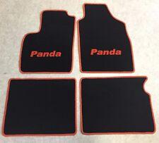 Autoteppich Fußmatten für Fiat Panda 2 schwarz orange 2003-2015 4teilig Neuware