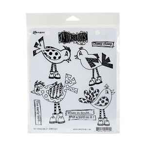 """Dyan Reaveley's Dylusions Cling Stamp Collections 8.5""""X7"""", Put A Bird On It"""