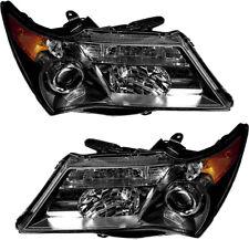Halogen Headlights Headlamps Pair Set for 2007 2008 2009 Acura MDX Base/Tech