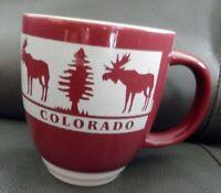 Colorado Moose & Trees Coffee Mug Cup, Brown & Tan