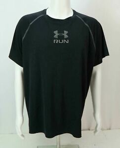Under Armour Run Men's Loose Fit Heat Gear Athletic T-Shirt Black 2X-Large