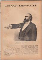 Léon Gambetta Homme politique FRANCE JOURNAL COMPLET 16 PAGES 1893
