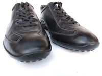 Tod's Men's Italy Gommino Black Leather Driving Shoes, Sneakers, Sz US 11.5