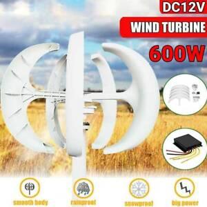 600W 12V Wind Turbine Generator Lantern 5 Blade Vertical  With Controller