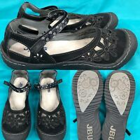 Womens JAMBU JBU 'Wildflower' Black Mary Janes Walking Shoes SIZE 8.5 M
