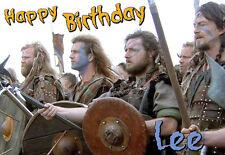 SCOTTISH William Wallace Braveheart Happy Birthday PERSONALISED ART Card Scotts