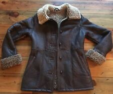 Runway, Women's Vintage Leather Jacket With Shearling-SM