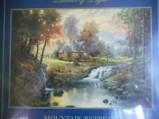 Thomas Kinkade Painter of Light Mountain Retreat 1500 piece jigsaw puzzle New