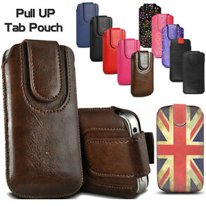 Pull Up Tab Leather Sleeve Pouch Case For Nokia 8000 6300 225 215 150 4G 2720