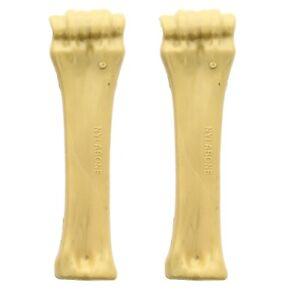 Nylabone Dog Bone Large Heavy Duty Power Chew Plastic Hard Chewing Toy, 2 Pack