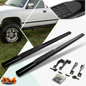 "For 88-00 Chevy/GMC C/K Extended Cab 4"" Side Step Nerf Bar Running Board Black"