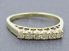 Pretty Vintage 14ct Yellow Gold & Diamond Ring Engagement/Wedder Ring