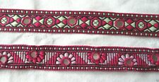 PINK MIRROR BRAID 20mm wide Indian textile trim ribbon