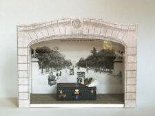 Champs Elysee, antique Louis Vuitton paper craft 1:12, Art Frame, Garret museum