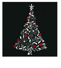 CHRISTMAS TREE HAND TOWEL SET CUSTOM EMBROIDERED
