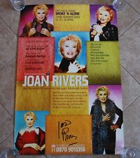 """JOAN RIVERS - Signed / Autographed LARGE POSTER - UK tour 'Broke 'n Alone"""" 2002"""