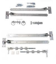 "Adjustable Galvanised 24"" Hook & Band Gate Hinge Set for double Gates / Doors"