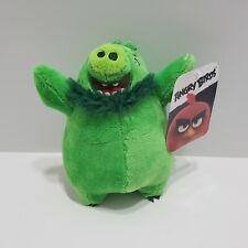 Angry Birds Leonard Plush Toy Factory Stuffed Animal Green Pig Rovio TAGS 7 inch