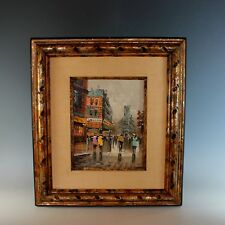 Oil Painting Parisian Street View by French artist Jacques Marchand (1932-)