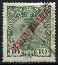 Portugal 1910-2 sg#406, 10r Grey-green optd Republica used #d65607