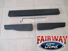 08 thru 16 Ford F-250 F-350 OEM Ford Top Flexible Step Tailgate Molding 3-pc Set