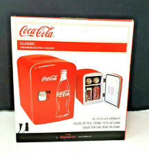 Coca-Cola Classic 6 Can Cooler/Mini Fridge Car or Wall Plug Portable New in Box!