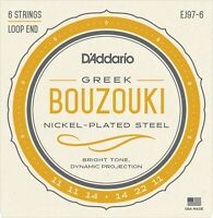 EJ97-6 D'Addario 6 String Greek Bouzouki Strings Nickle Plated Steel