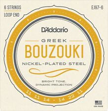 EJ97-6 D'Addario 6 String Greek Bouzouki Strings Nickel Plated Steel