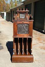 Fabulous Ornate Walnut Victorian Aesthetic Music Cabinet Stand w Fancy Gallery