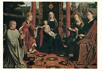 VIRGIN & BABY JESUS with SAINTS & DONOR POSTCARD - PAINTING by DAVID GERARD