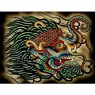 Tibetan Elephant by Brother Greg Asian Colorful Tattoo Fine Art Print Poster