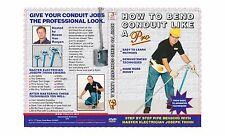 CONDUIT BENDING DVD: HOW TO BEND CONDUIT LIKE A PRO~! UNIQUE DVD HERE @ GREAT$!~