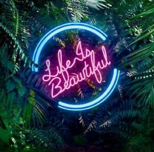 """LIFE IS BEAUTIFUL"" Neon Sign/Light/Lamp Custom Made"