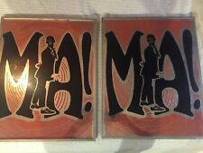 """New listing 2 Framed Picture Sign Mirror Black Americana, Mirror """"Ma!�"""