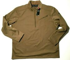 Under Armour Mens UA Storm Tactical Half Zip Pullover Long Sleeve Tan Sz 3XL