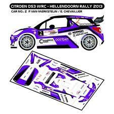 DECALS 1/43 CITROËN DS3 WRC #2 VAN MERKSTEIJN - RALLYE HELLENDOORN 2013 - D43251