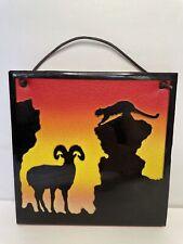 """""""Ram Up� Tile Wall Hanger Red Orange Black Desert Scene 6�x6�"""