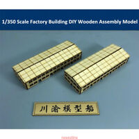 Factory Building 1/350 Scale DIY Shipyard Dock Scene Wooden Assembly Model CY811