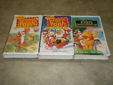 Disney Winnie The Pooh Sing A Song With Tigger And Christmas Too Adventure VHS