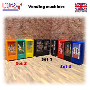 WASP 3D printed vending machine set, pit, garage, track side, scenery, 1/32