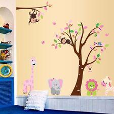 Wandtattoo Wandsticker XXL Löwe Tier Kind Elefant Wald Affe Kinderzimmer Baum