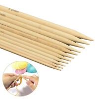 55 Pcs Useful Double Pointed Bamboo Knitting Needles Sweater Glove Knit Tool Set
