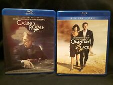 2 Daniel Craig/James Bond blu-rays - CASINO ROYALE & QUANTUM OF SOLACE