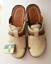 NIB Josef Seibel Capri Dakota Tan Multi Genuine Leather Clogs Mules
