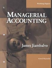 Managerial Accounting, Working Papers, Jiambalvo, James, New Book