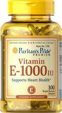 La vitamina E 1000IU, 100 cápsulas, Puritans Pride, la salud del corazón/inmune Soporte