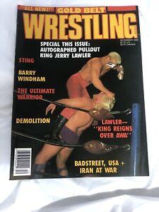 VTG Gold Belt Wrestling Magazine December 1988 Sting Ultimate Warrior Cover