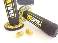 Pro Taper Grips Motorcycle  Motocross  Free Dust Caps